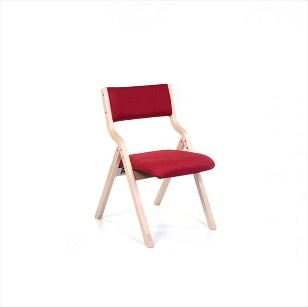 fold up chairs Home simple portable solid wood folding dining chair, simple folding back computer chair, living room lounge chair (Size: 47.5 78.5cm) Folding Chairs (Color : F)