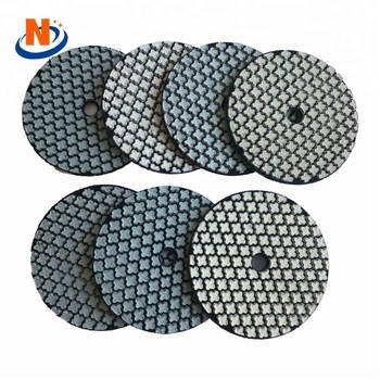 A grade 80mm Diamond  flexible polishing pad dry abrasive pad
