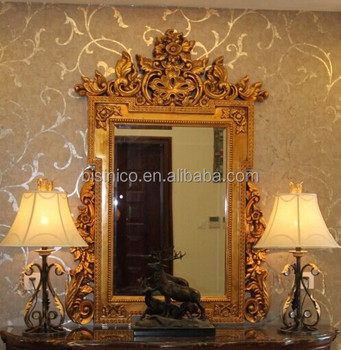 Antique square shape wall hanging mirroreuropean royal for What kind of paint to use on kitchen cabinets for unique framed wall art