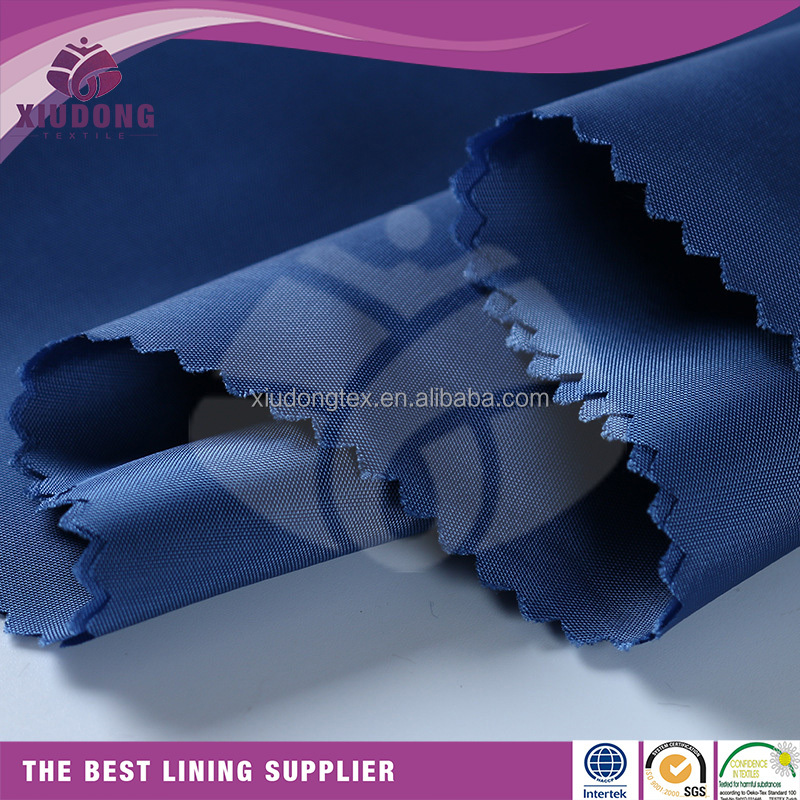 Xiudong Textile garment lining plain taffeta polyester viscose lining solid colour