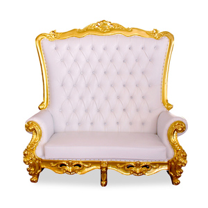 Modern Wholesale Hotel wedding golden crown chair