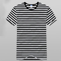 2016 Factory price promotional unisex 100% cotton yarn dyed striped short sleeve T-shirt