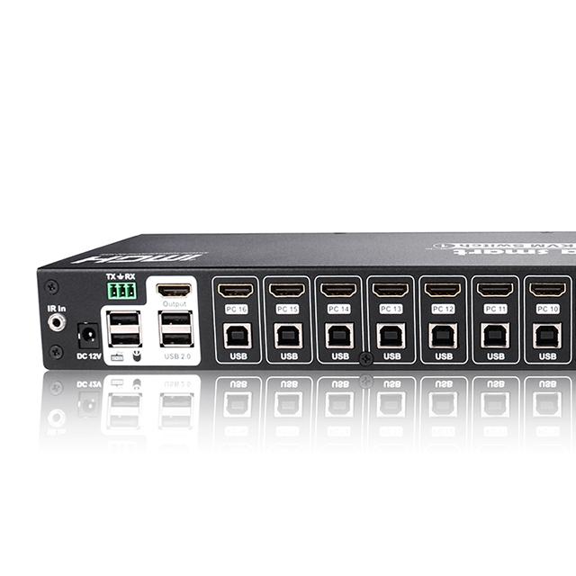 Tesla Smart Server Rackmountable Hdmi Usb Kvm Switch 16 Port Cat5 Over Ip -  Buy Kvm Switch,10 Port Kvm Switch,Hdmi Kvm Switch Product on Alibaba com