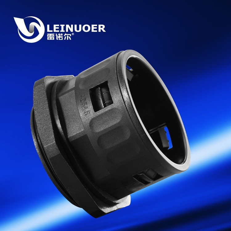 Leinuoer PG16 PG21 waterproof IP65 plastic electrical flexible hose conduit wiring quick connector