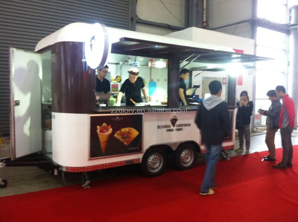 Customized Electric Mobile Car Food Cart Fast With Competitive Price