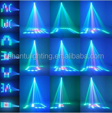 10W 64 LEDs RGBW Mini LED Small Airship Monster Magic MoonFlower DJ Disco Stage Lighting