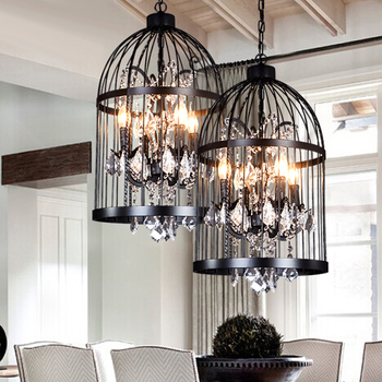 2016 Modern Classic Industrial Black Iron Candle Chandelier From ...