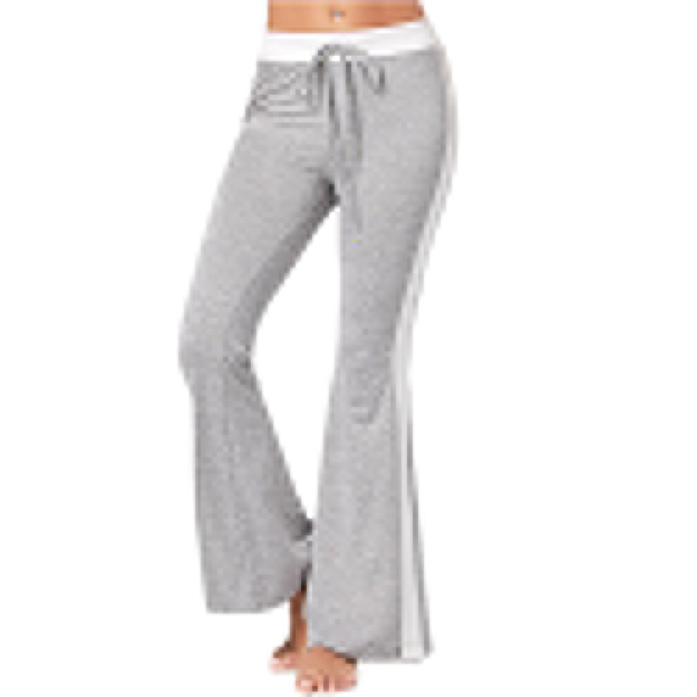 fd78c6ddec1 Get Quotations · MVNTOO Women Boot Cut Wide Leg Pants High Waist Elastic  Fitness Loose Yoga Streetwear