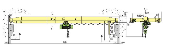 Vendite dirette della fabbrica LD singola trave gru a ponte di esportazione in Alaska