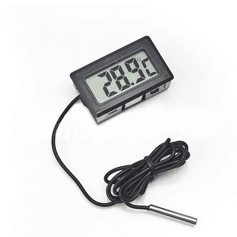 Thermometers,VIASA -50~+110°C Digital LCD Thermometer for Refrigerator Cars Freezer Temperature Digital LCD Thermometer Thermometer with probe Temperature Probe Digital Thermometer (Black)