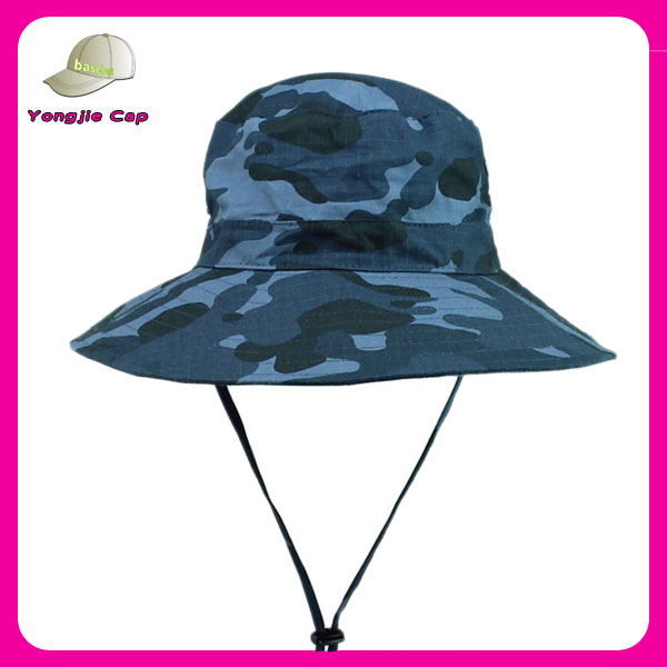 8ca8b61e723e8 Camouflage Bucket Hat With String