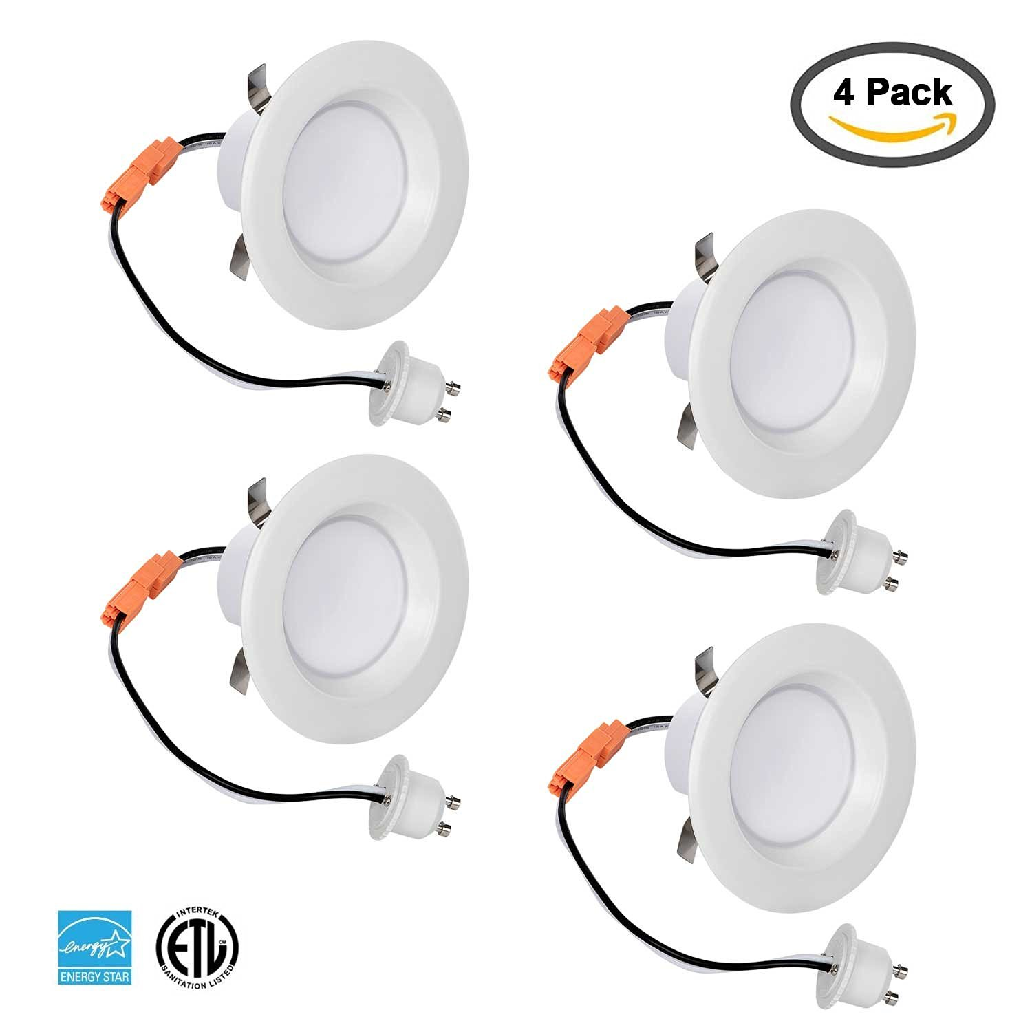 Buy chichinlighting 3 pack 3 inch led recessed lighting led light blue 4 pack 3 inch led downlight retrofit gu10 base 8 watt 50w soft white 3000k led retrofit recessed lighting fixture 560 lumens dimmable aloadofball Image collections