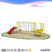 outdoor playground equipment swing and slide for kids