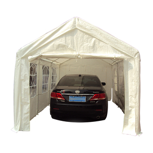 Tuoye Pvc Coated Outdoor Car Shelter/garage Diy Steel Frame Portable Fabric Carport For Motorcycle