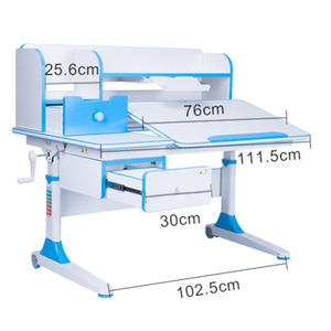 Children Hand Crank Easy Operate Study Table Desk for Study at Home