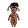 2019 newest 12 inch Toy Baby Black Dolls lifelike african baby doll for girls, kids, children, Kids Holiday and Birthday gift