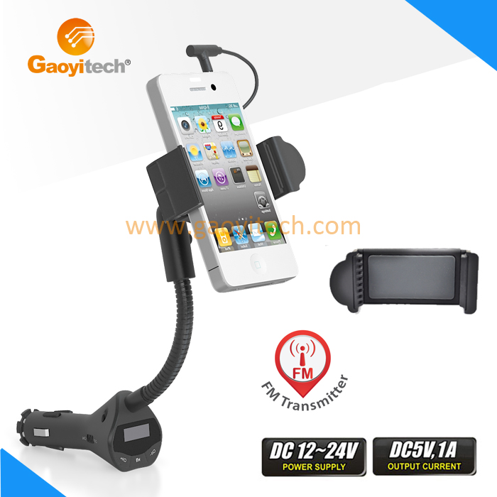 China made Alibaba express Universal Car FM Transmitter with USB Charger smartphone HC29N
