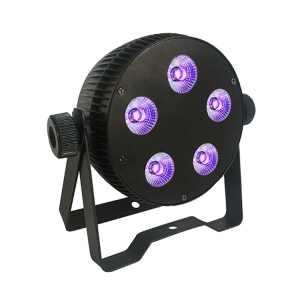 5pcs x12w rgbwauv 6 in 1 10w rgbwa 5 in 1 8w rgbw 4 in 1 led par light mini flat par can lights for club