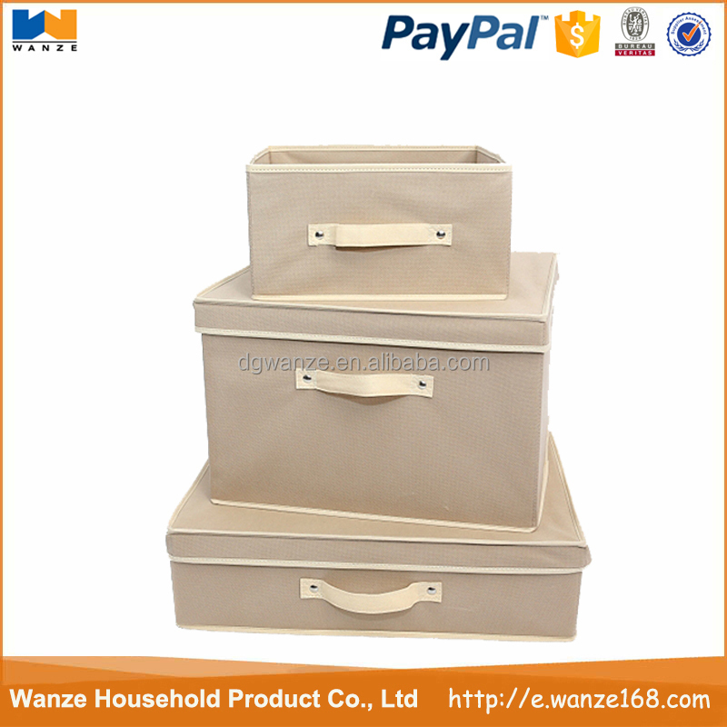 Foldable nonwoven storage box for home collection