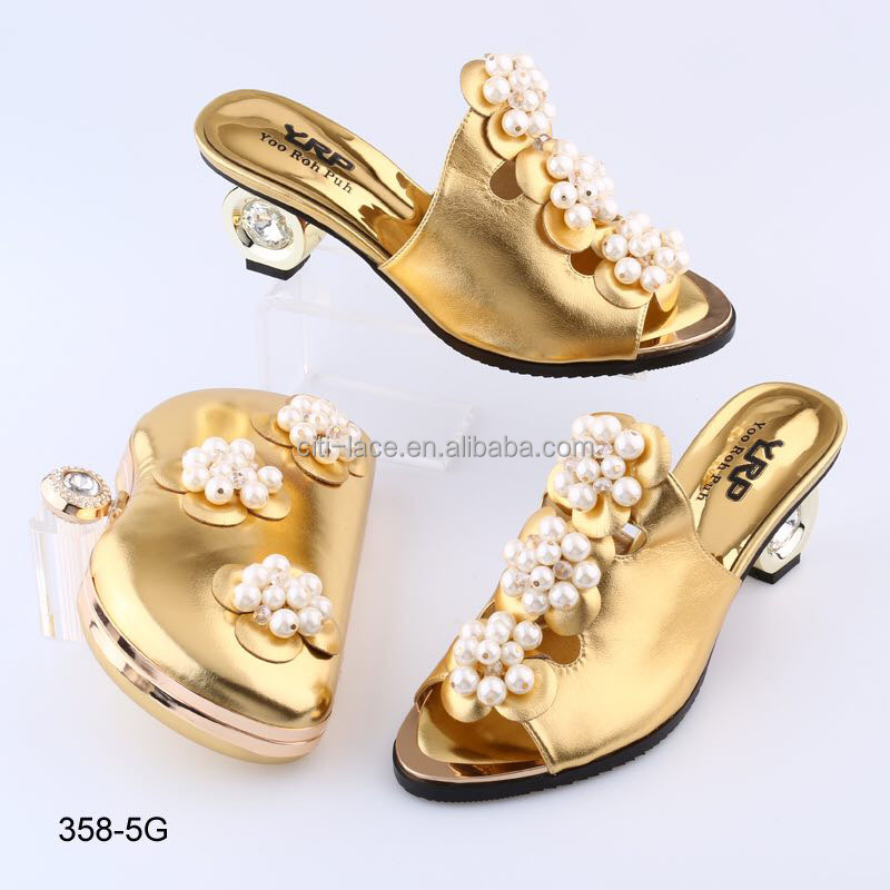 BL358-5 Wholesale price good quality ladies shoes matching bags,italian shoes and bags for party