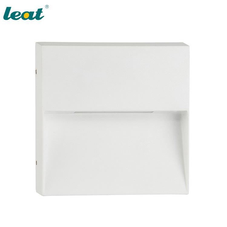 Square led brick lights aluminium led wall sconce warm white IP54 4W garden wall lights