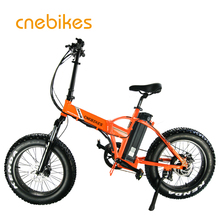 Electric Bicycles Folding 20inch Fat Tire Electric Bike 500W 48V Mountain Snow Beach