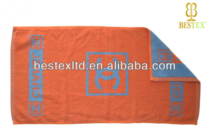 Best Brand name Patterned Orange Monogrammed sports hammam towel fouta