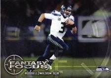 Russell Wilson 2014 Topps Fantasy Focus NFL Football Card #FF-RW Seattle Seahawks