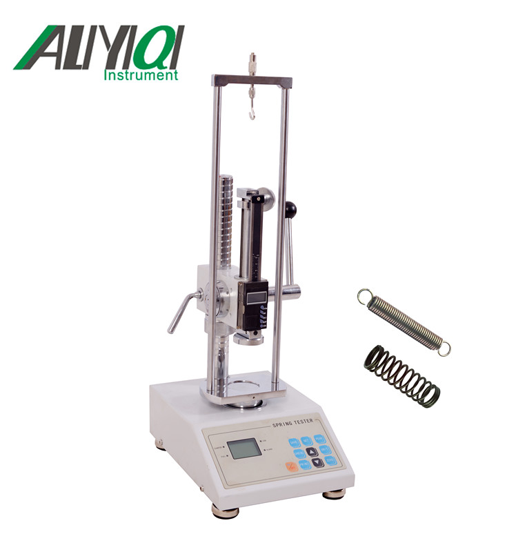 Motorized digital display spring tensile and compression tester for testing sofa springs compression
