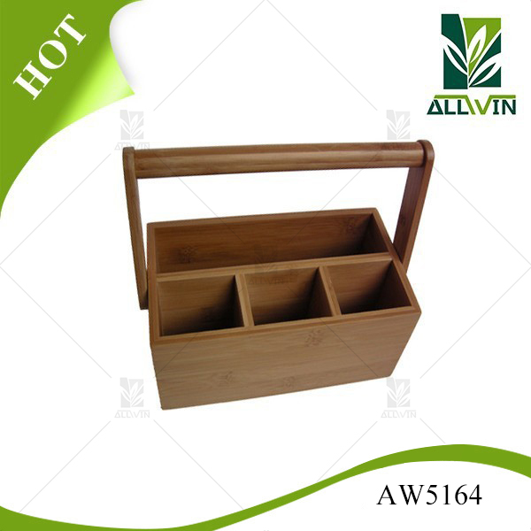 High quality non-toxic bamboo cutlery holder