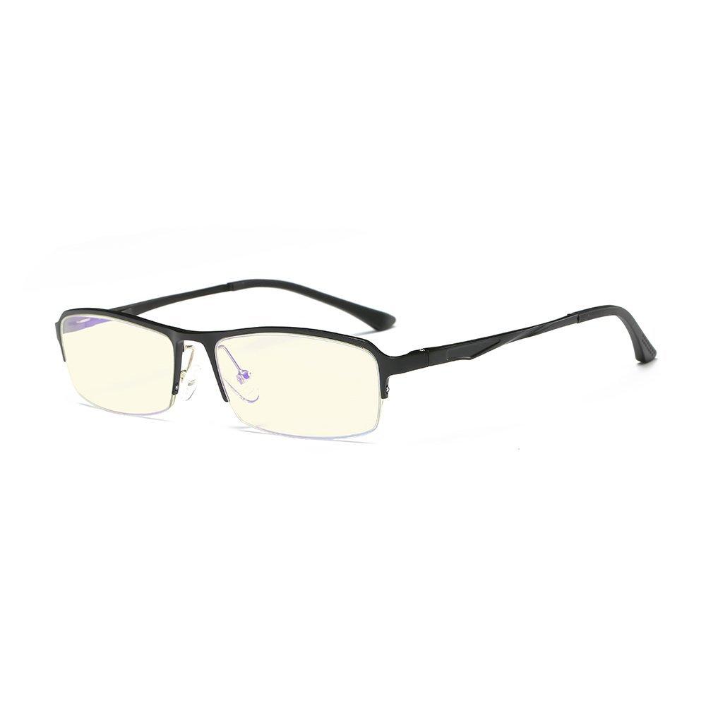 1c42828834 Get Quotations · Lightweight Blue Light Blocking Computer Glasses  Anti-Glare Anti Eye Strain Amber Lens Eyeglasses for