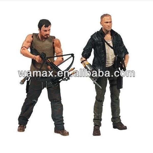 The walking dead 3d face 10 inch action figures
