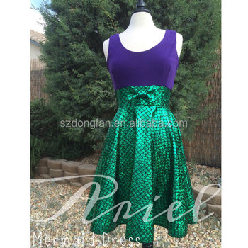 67a10c7e402b New arrival Ladies Little Mermaid Scale Sparkles one piece party women  dashiki dresses