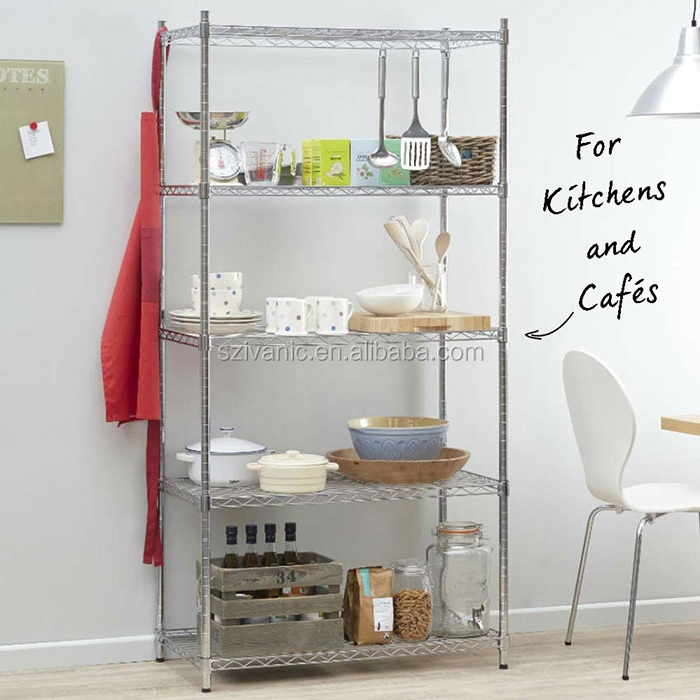 NSF Kitchen Racking Stainless Steel Wire Shelving
