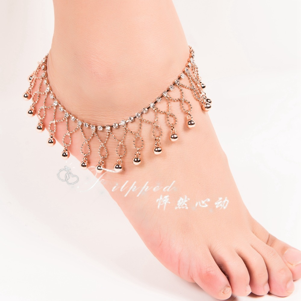 39pairs Belly Dance Bell Foot Anklet Indian Dance Foot Chain Latin Dancing  Anklets Foot Ornaments Jewelry Props