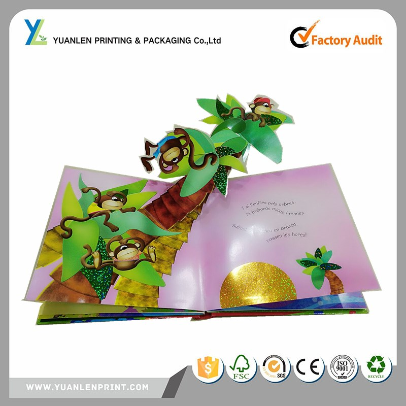 printing services pirate pop up book/superhero pop up book/toy story pop up book