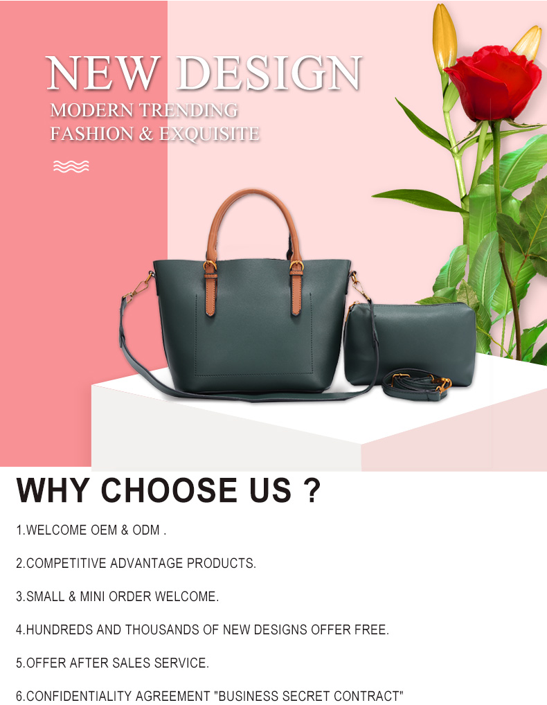 2019 Fashion newest bags factory women handbags tote pu leather bag