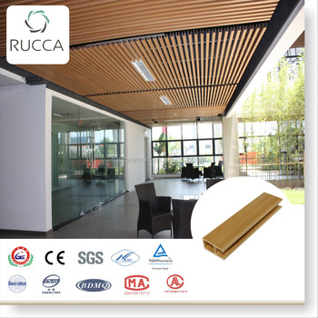 Recycle Pvc Panels Ceiling Design For Interior Exterior Decoration Wood Plastic Composite Ceiling 50 25mm Foshan China Buy Pvc Panels Ceiling