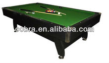 Manufacturing MDF Pool/ billiard Table With metal or plastic corner and leveller