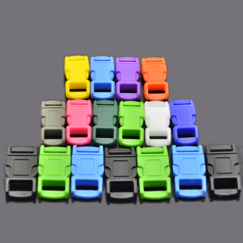 "2017 new paracord accessories 3/8"" 1/4"" Colorful Curved Side Release Plastic Buckle for Paracord Bracelet"