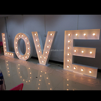 factory custom decorative led bulb letters large vintage outdoor metal signs marquee letters love signs