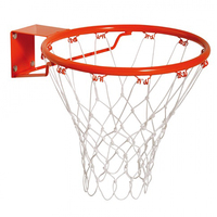 Elastic basketball ring for competition basketball hoop net