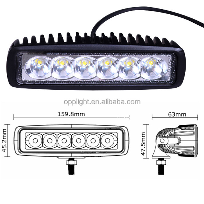 High Power Led Car Extra Light Cre E 18w Led Offroad Light