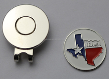 eco-friendly excellent quality fashion magnetic golf hat clip ball markers in cheap price