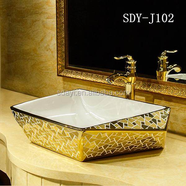 Ceramic Bathroom Sink Hand Wash Basin Luxury Gold Art Basin   Buy Gold Art  Basin,Ceramic Gold Hand Wash Basin,Sanitary Ware Bathroom Art Basin Ceramic  Gold ...