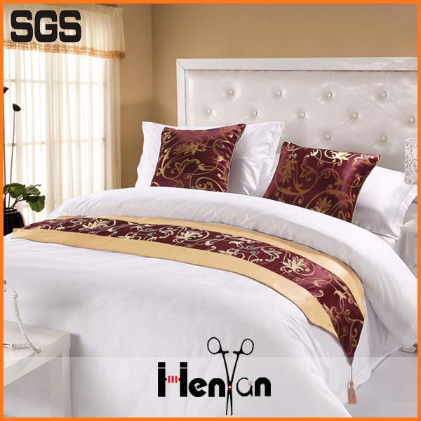 wholesale custom hotel king size bed runner size of queen hotel bed runner buy bed runner size. Black Bedroom Furniture Sets. Home Design Ideas