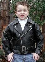 Childrens Genuine Leather Motorcycle Jacket
