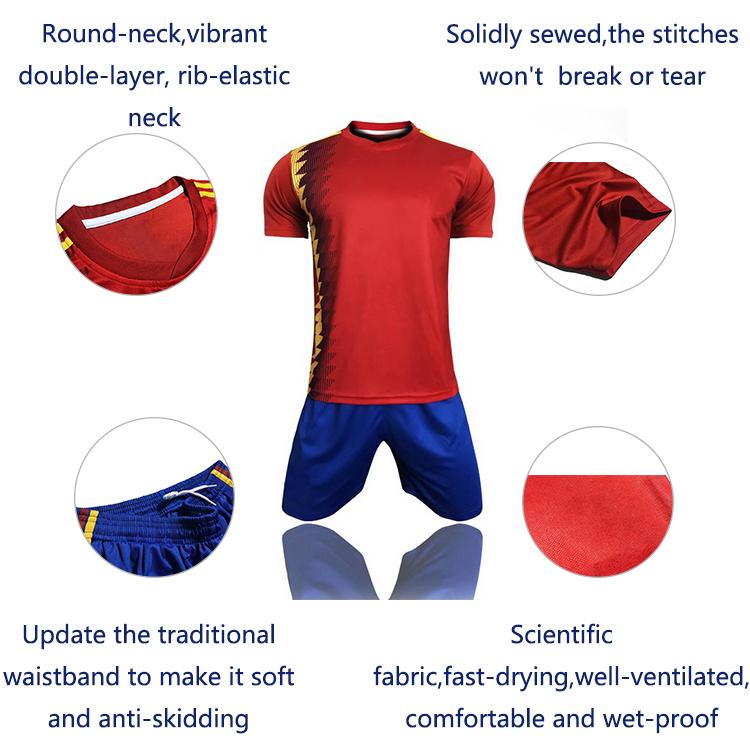 Silonprince custom football shirt maker Wholesale red jersey soccer football shirt