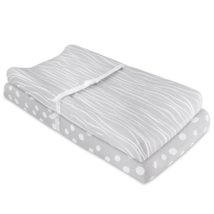 "Newest design professional antibacterial 100% jersey cotton baby changing pad cover for standard 16""x32"" Changing Pad"