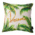 Home decorative custom square plain leaf print linen canvas fabric pillow cover